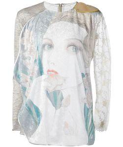 Jenny Fax   Portrait Motif Extended Sweater