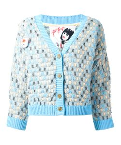 Jenny Fax   Oversized Spot Knit Cardigan Size Medium