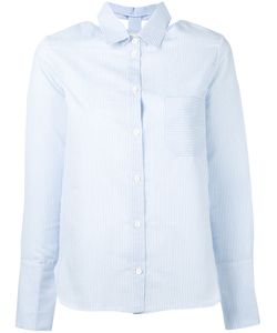 Nanushka | Striped Cut-Out Collar Shirt