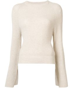 Ryan Roche | Flared Sleeves Ribbed Jumper