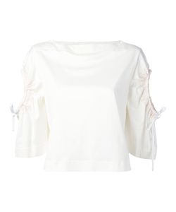 Sportmax | Lace-Up Sleeves Blouse Women M