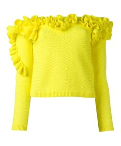 Delpozo | Off-The-Shoulder Ruffled Top Size Xs