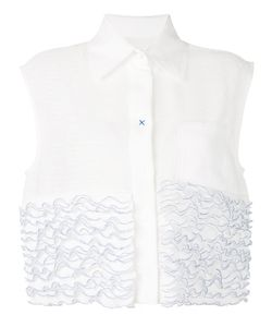Steven Tai | Ruffle Stuck Sleeveless Shirt