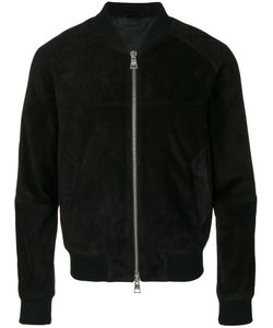 AMI Alexandre Mattiussi | Suede Leather Zipped Jacket With Raglan Sleeves