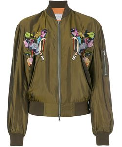 Forte Couture   Bird Embroidered Bomber Jacket