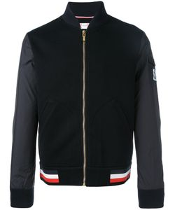 Moncler Gamme Bleu | Mixed Media Baseball Jacket Large