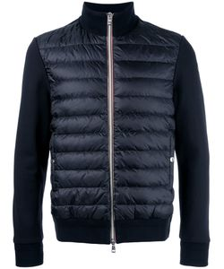 Moncler | Padded Front Knitted Cardigan Large Cotton/Polyamide/Goose Down