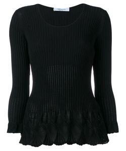 Blumarine   Flared Knit Top Size 44