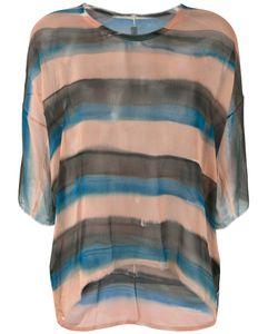 Raquel Allegra | Striped Sheer T-Shirt