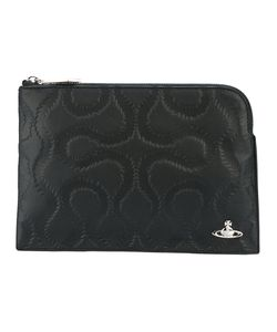 Vivienne Westwood Red Label   Embossed Clutch Cotton/Calf