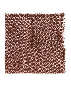 Suzusan | Printed Fringed Scarf Women One