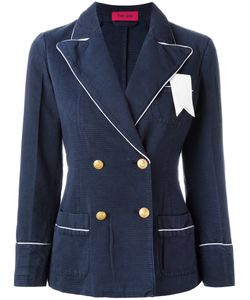 The Gigi | Contrast Trim Blazer Size 40