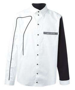 Nasir Mazhar | Piping Detail Shirt With Contrasting Sleeves