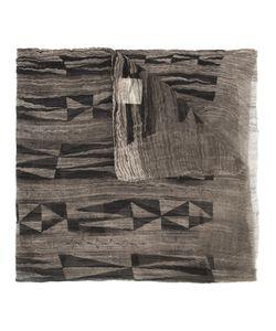 Uma Wang | Geometric Pattern Scarf Cotton