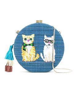 Serpui | Embroidered Cat Shoulder Bag