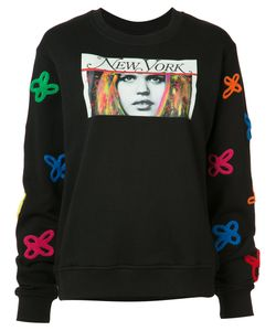 Haculla | Embroidered Print Sweatshirt Size Xs