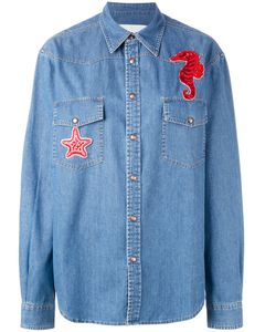 Ava Adore   Seahorse Patch Denim Shirt