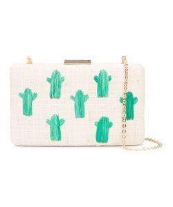 Kayu   Cactus Embroidery Woven Clutch