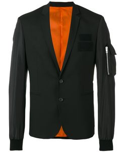 Les Hommes | Zipped Pocket Applique Blazer Size 46
