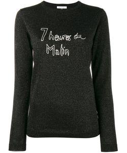 Bella Freud | Glitte Slogan Jumper Xs Wool/Metal/Nylon