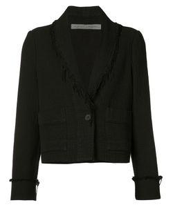 Raquel Allegra | Cropped Frayed Trim Jacket
