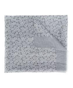 Canali   Circle Pattern Scarf Cotton/Linen/Flax
