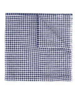 Brioni   Fringed Scarf Silk/Linen/Flax