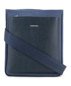Cerruti | 1881 Front Pocket Shoulder Bag Cotton/Calf