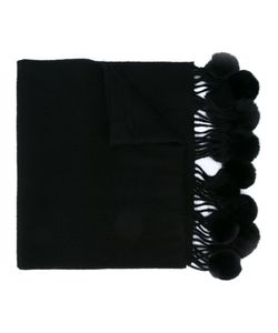 N.Peal | Fur Bobble Woven Scarf