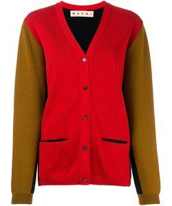 Marni   Contrast Knitted Cardigan 42 Virgin Wool
