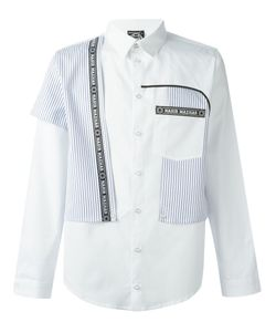 Nasir Mazhar | Contrast Striped Panel Shirt