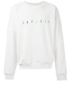 Gosha Rubchinskiy   Multicoloured Embroidered Logo Sweatshirt