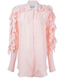Preen by Thornton Bregazzi | Ruffled Sleeve Shirt Size Large