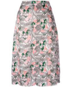 Julien David | Printed Midi Skirt