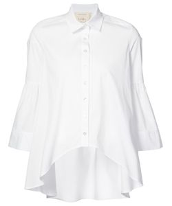 Nicole Miller | Curved Hem Shirt Size Medium