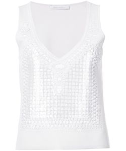 Sally Lapointe | Geometric Embellished Tank Top
