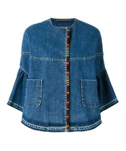 Bazar Deluxe | Cropped Sleeves Denim Jacket 38