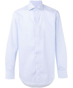 Canali | Square Print Shirt Size