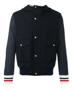 Moncler Gamme Bleu | Hooded Bomber Jacket Nylon/Cupro/Virgin