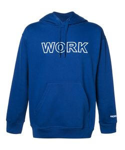 Andrea Crews | Work Print Hoodie Large Cotton/Polyester