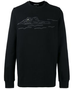 Markus Lupfer | Embroidered Crocodile Sweatshirt