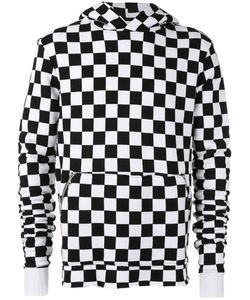 Amiri   Hooded Checker-Print Sweatshirt S