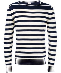 Moncler | Striped Long Sleeve Sweater Medium Cotton