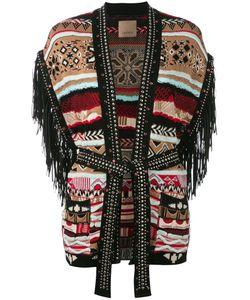 Laneus | Fringed Sleeve Cardigan Size 40