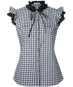 Guild Prime | Gingham Frilled Sleeveless Shirt