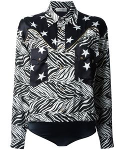 Faith Connexion   Star And Zebra Print Shirt Size 38