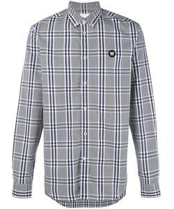 Wood Wood | Button-Down Plaid Shirt Large Cotton