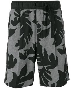 Diesel   Leaf Print Shorts Size Small