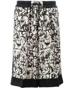 Dries Van Noten | Allover Print Drawstring Shorts Size Medium