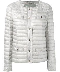 Herno | Collarless Padded Jacket 40